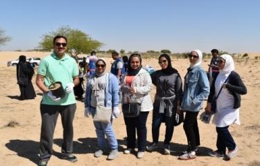 المشاركة في حملة تنظيف وزراعة محمية العبدلية مع شركة نفط الكويت
